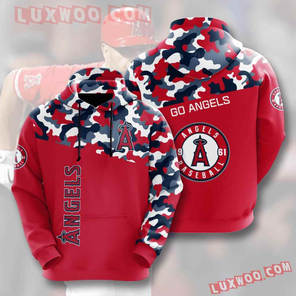 Mlb Los Angeles Angels 3d Hoodies Printed Zip Hoodies Sweatshirt Jacket V4