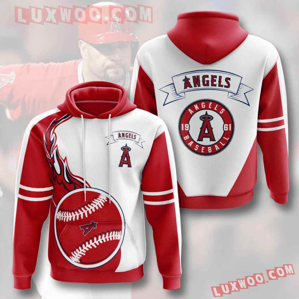 Mlb Los Angeles Angels 3d Hoodies Printed Zip Hoodies Sweatshirt Jacket V5