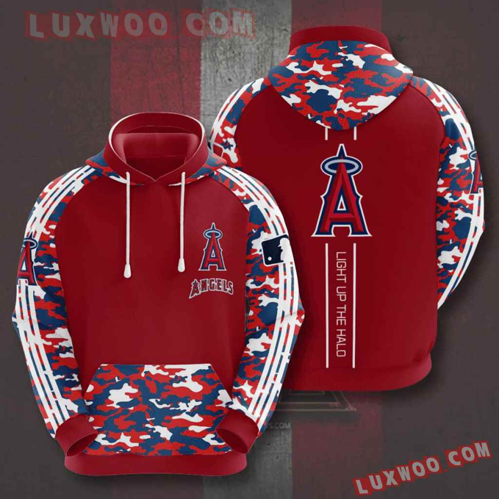 Mlb Los Angeles Angels 3d Hoodies Printed Zip Hoodies Sweatshirt Jacket V6