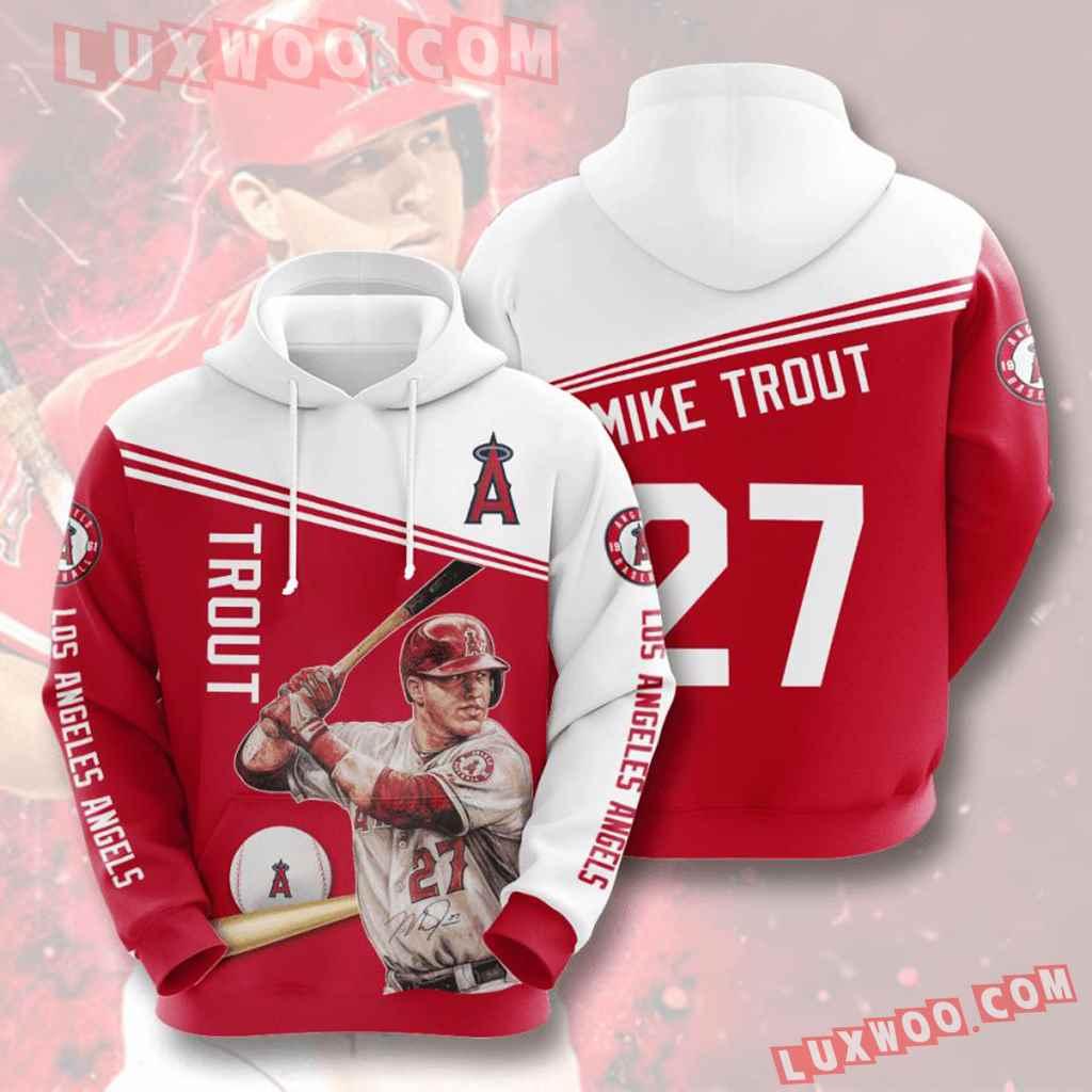 Mlb Los Angeles Angels 3d Hoodies Printed Zip Hoodies Sweatshirt Jacket V7