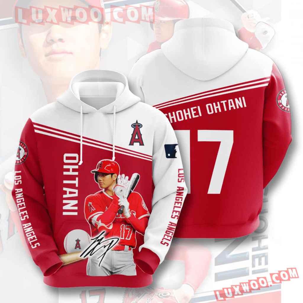 Mlb Los Angeles Angels 3d Hoodies Printed Zip Hoodies Sweatshirt Jacket V9