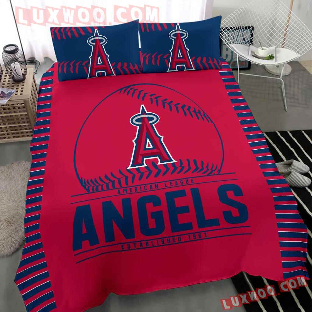 Mlb Los Angeles Angels 3d Quilt Bedding Set V1
