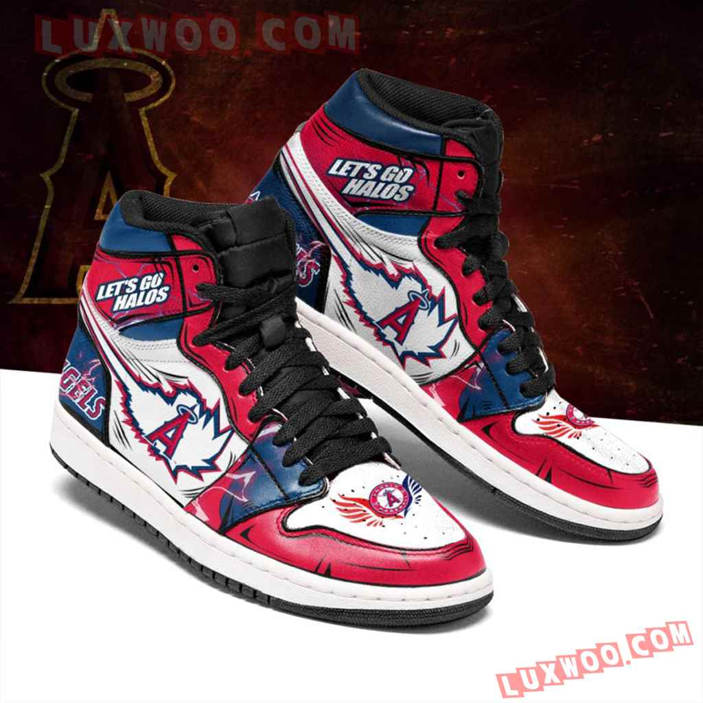 Mlb Los Angeles Angels Air Jordan 1 Custom Shoes Sneaker V1