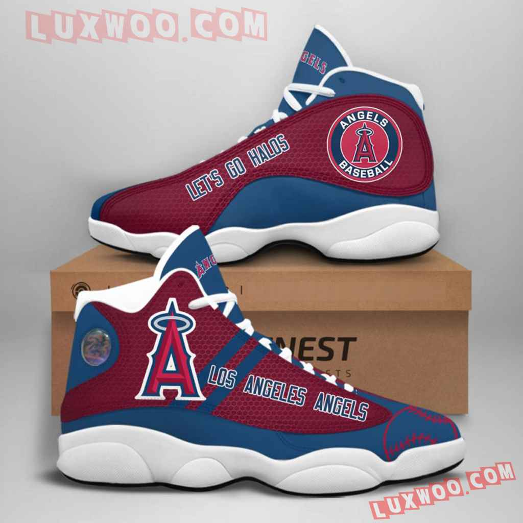 Mlb Los Angeles Angels Air Jordan 13 Custom Shoes Sneaker V1