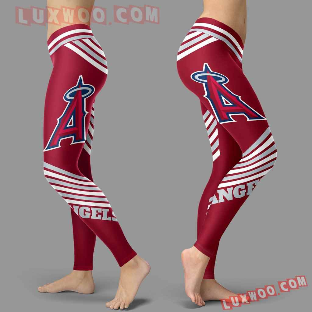 Mlb Los Angeles Angels Leggings 3d Custom Print Leggings Sport V2