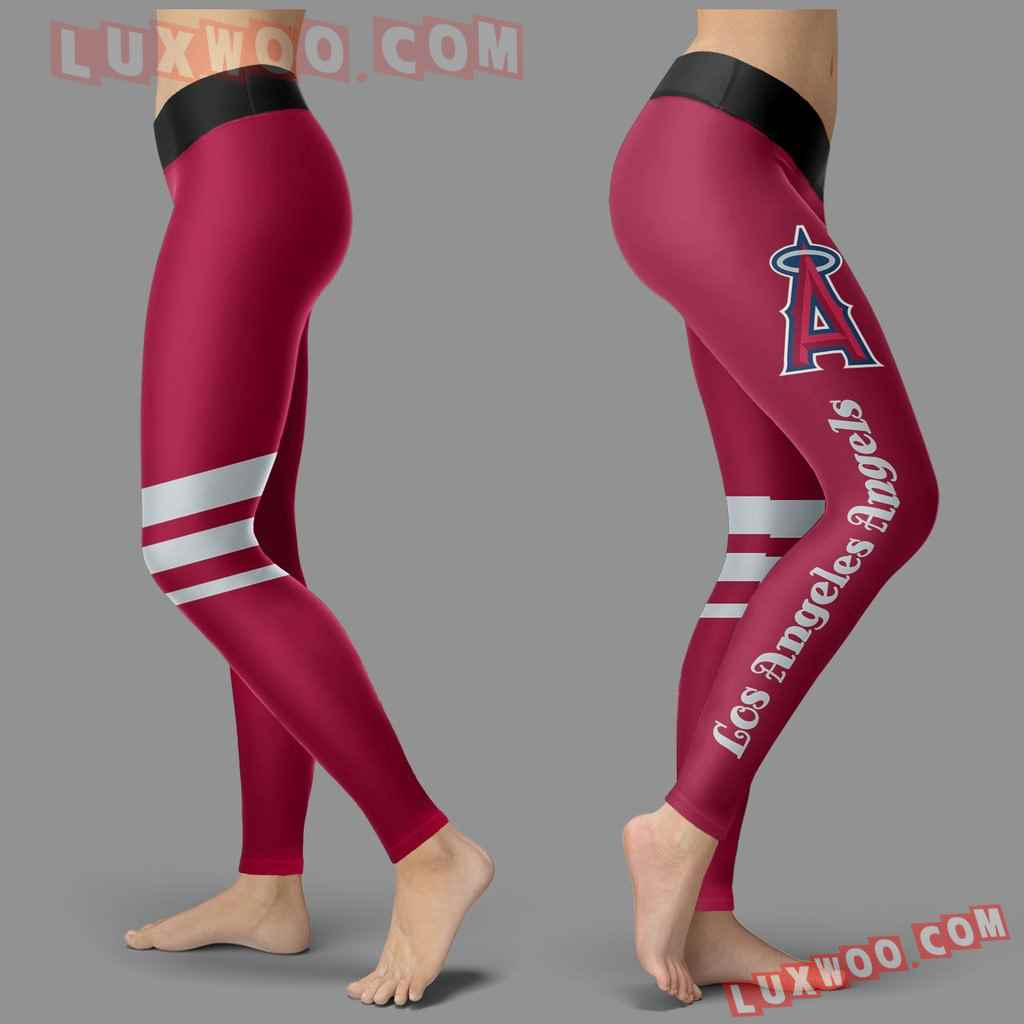 Mlb Los Angeles Angels Leggings 3d Custom Print Leggings Sport V3