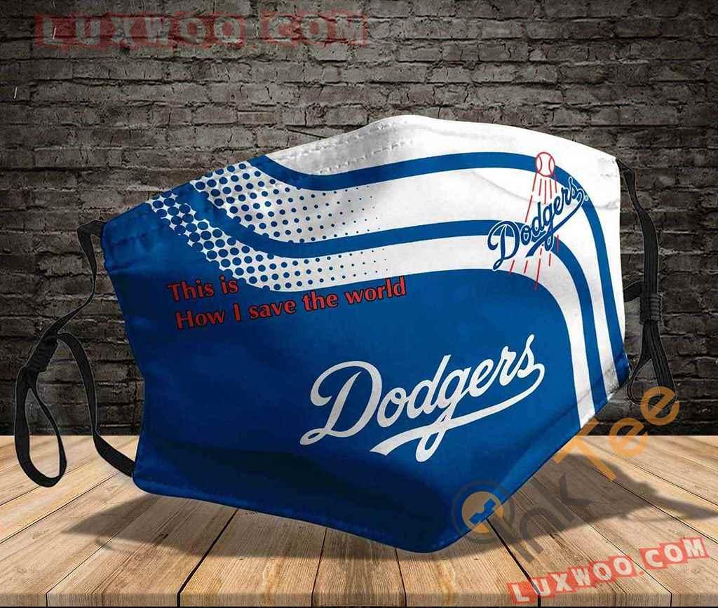 Mlb Los Angeles Dodgers 3d Face Mask V1
