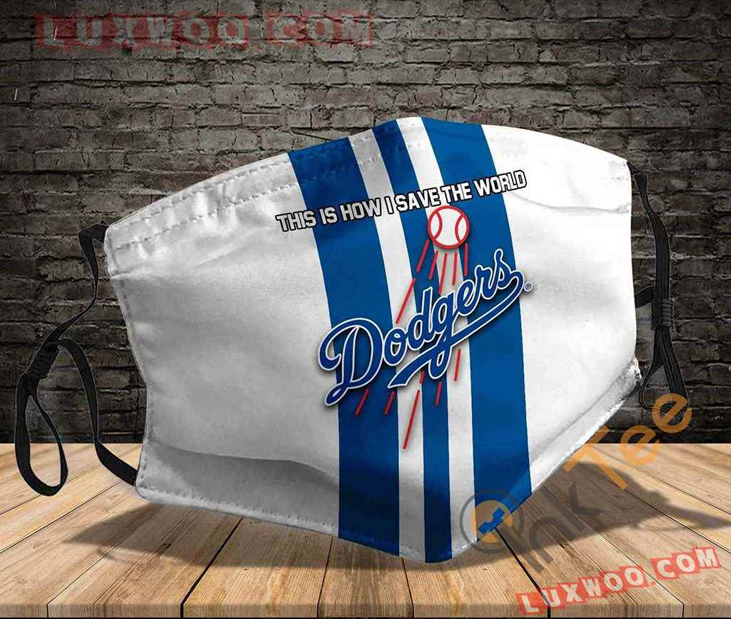 Mlb Los Angeles Dodgers 3d Face Mask V2