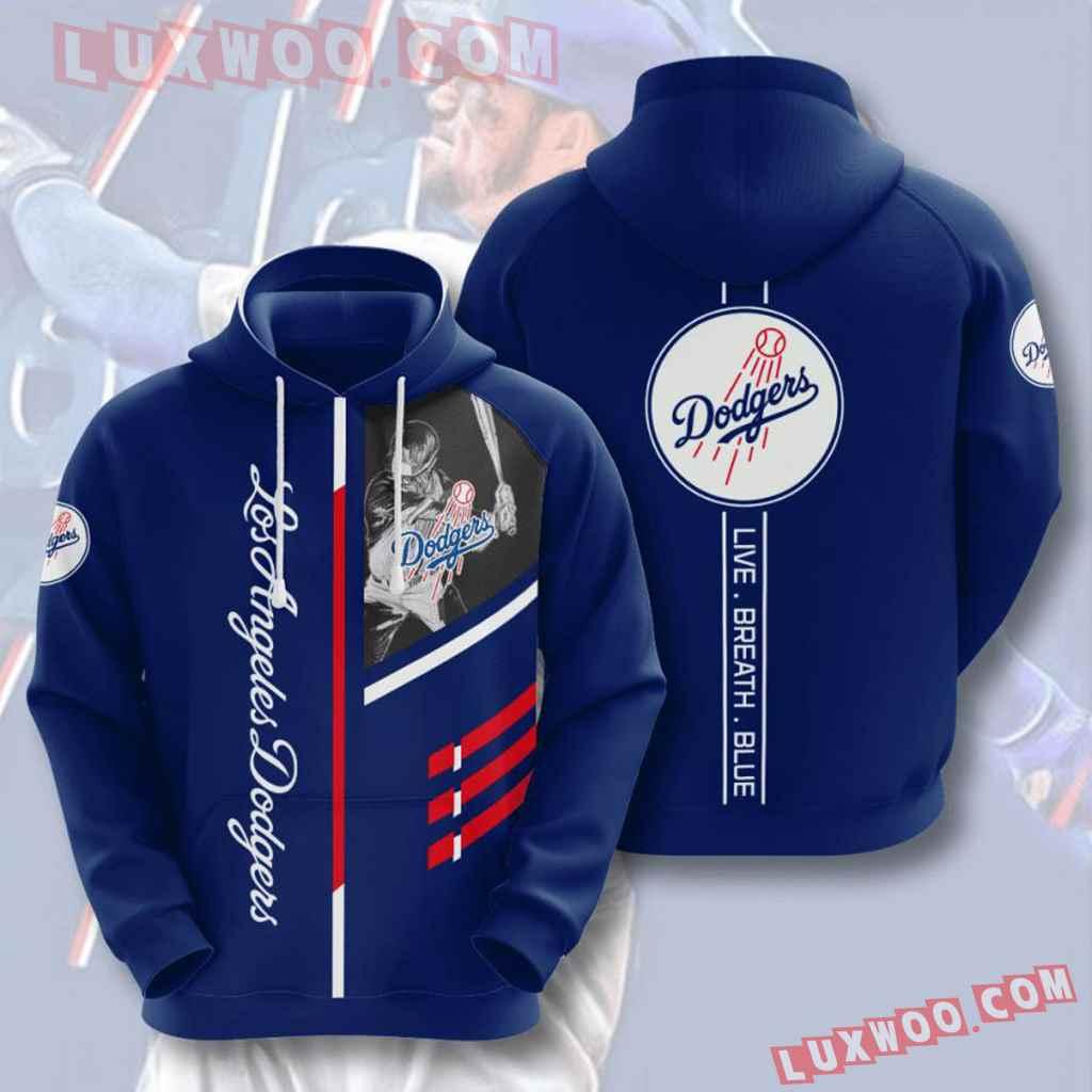 Mlb Los Angeles Dodgers 3d Hoodies Printed Zip Hoodies Sweatshirt Jacket V1