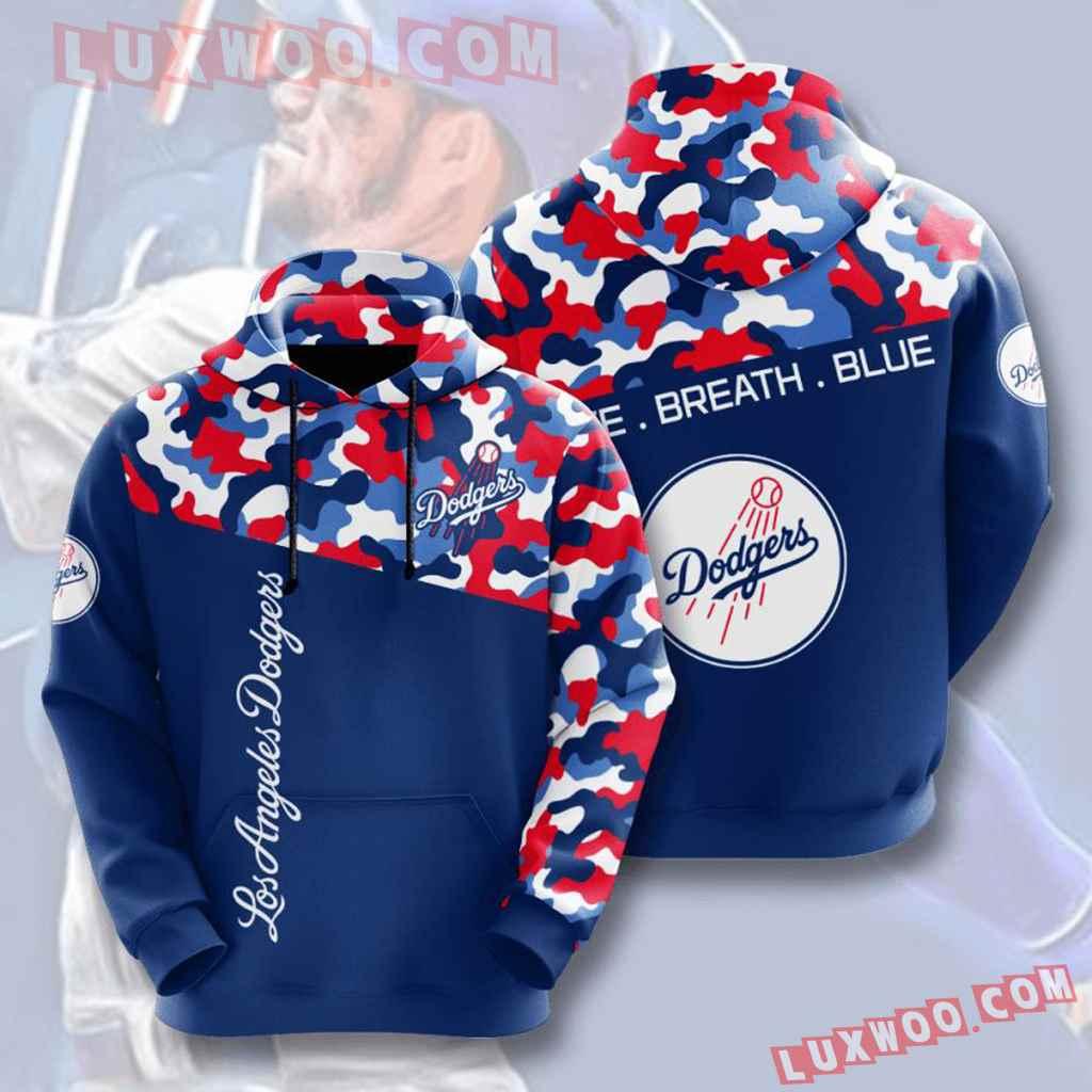 Mlb Los Angeles Dodgers 3d Hoodies Printed Zip Hoodies Sweatshirt Jacket V2