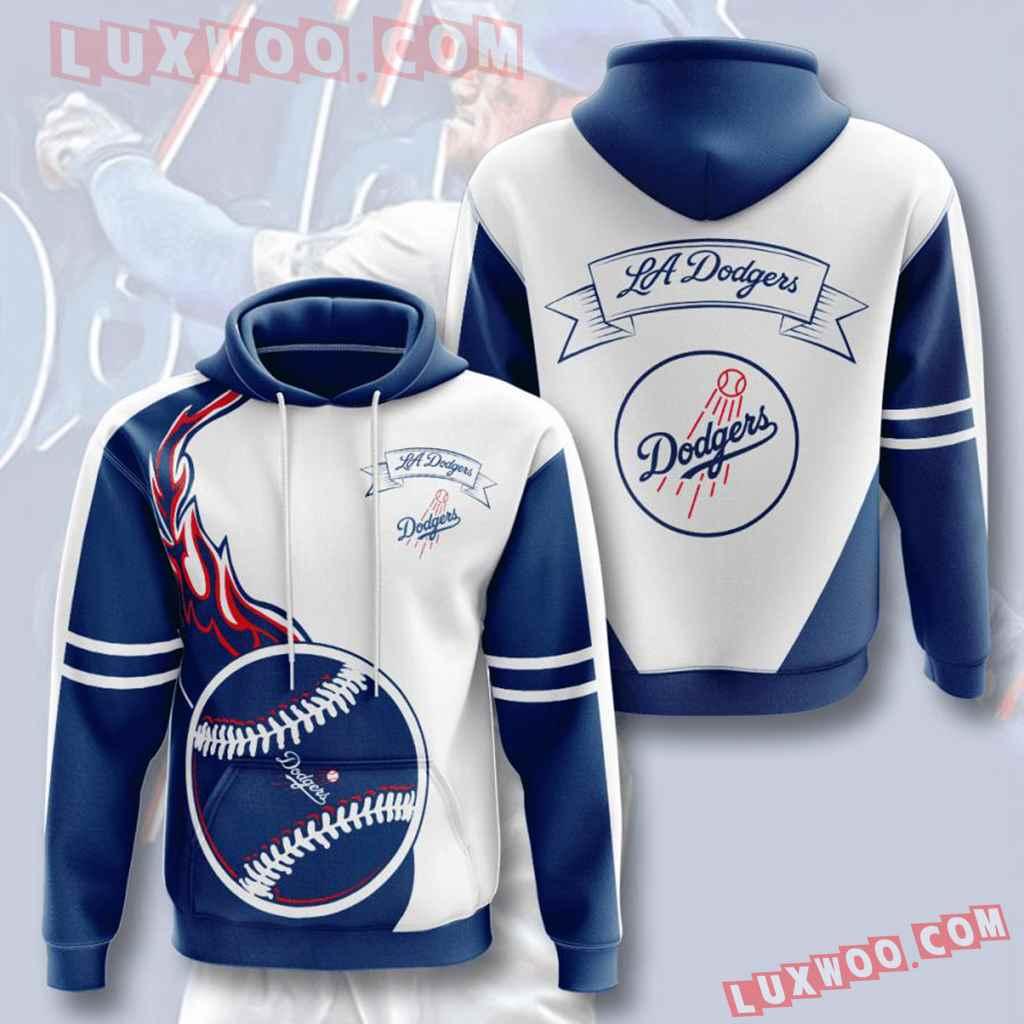 Mlb Los Angeles Dodgers 3d Hoodies Printed Zip Hoodies Sweatshirt Jacket V3