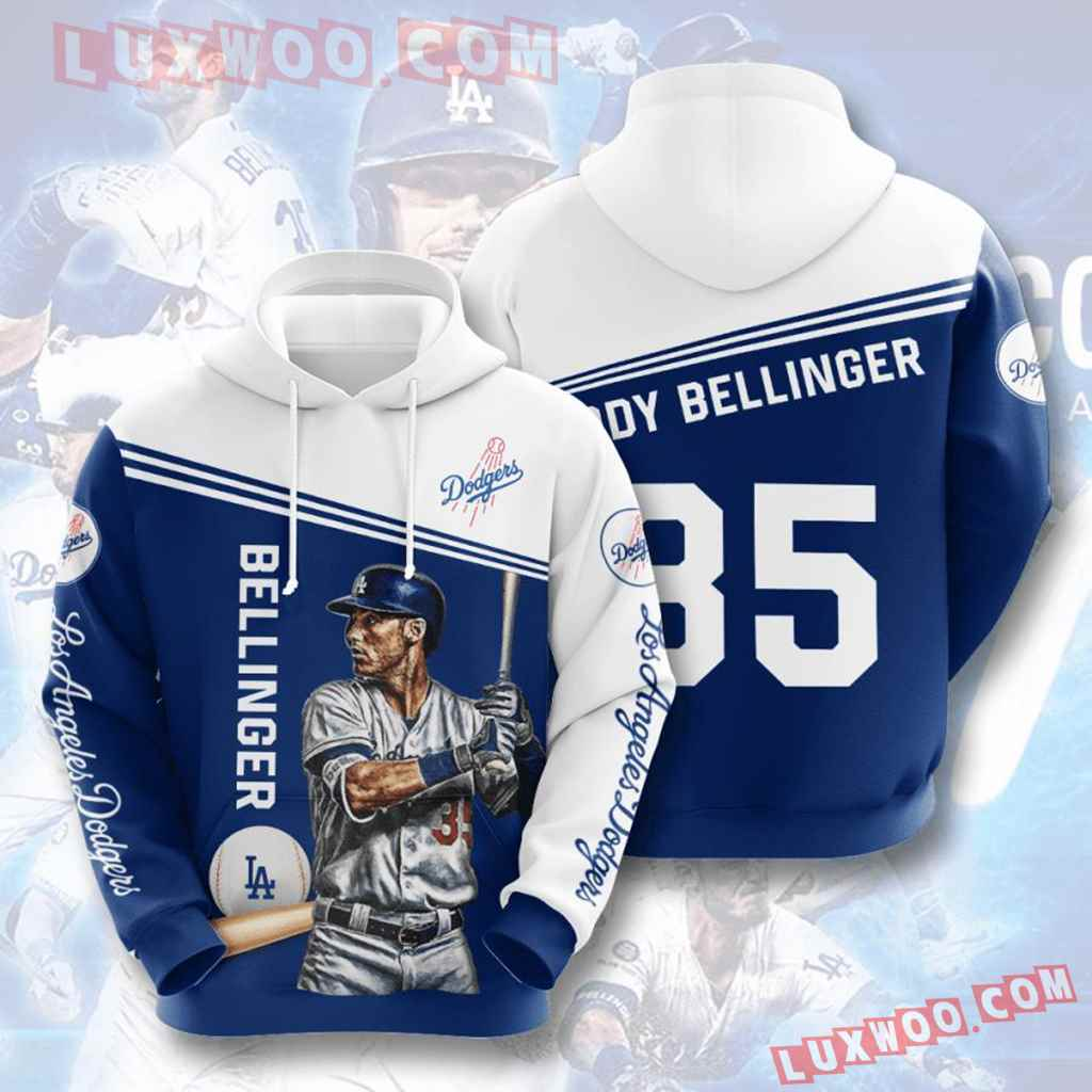 Mlb Los Angeles Dodgers 3d Hoodies Printed Zip Hoodies Sweatshirt Jacket V4