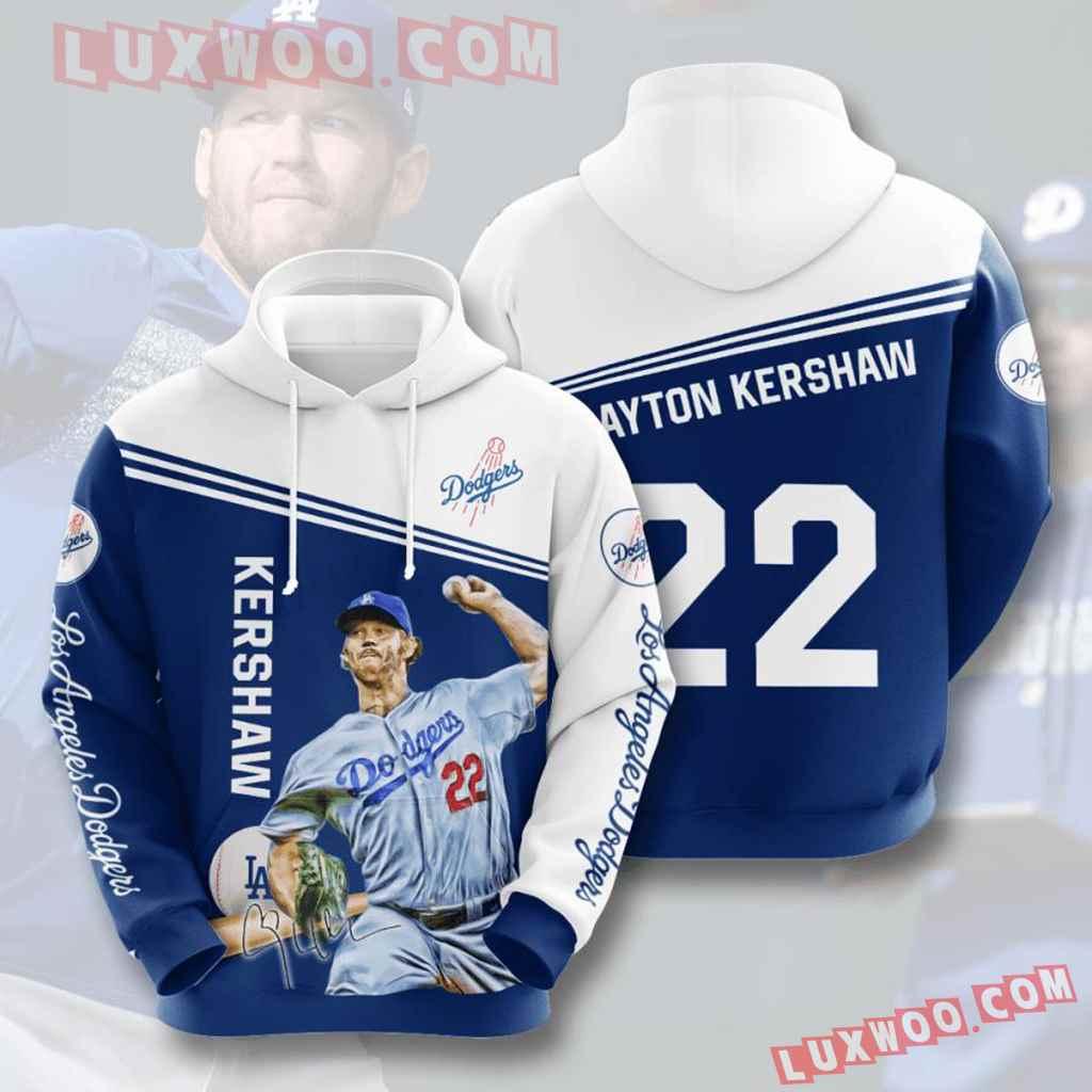 Mlb Los Angeles Dodgers 3d Hoodies Printed Zip Hoodies Sweatshirt Jacket V5