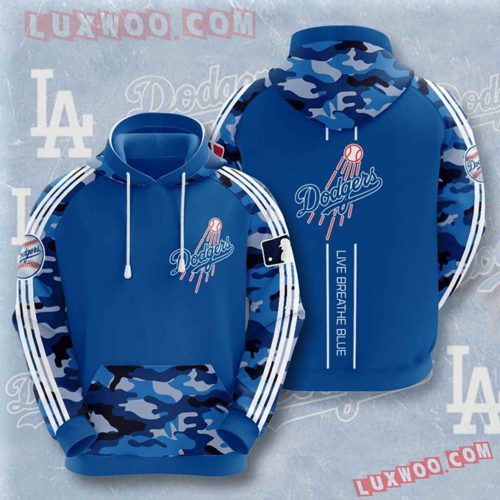 Mlb Los Angeles Dodgers 3d Hoodies Printed Zip Hoodies Sweatshirt Jacket V6