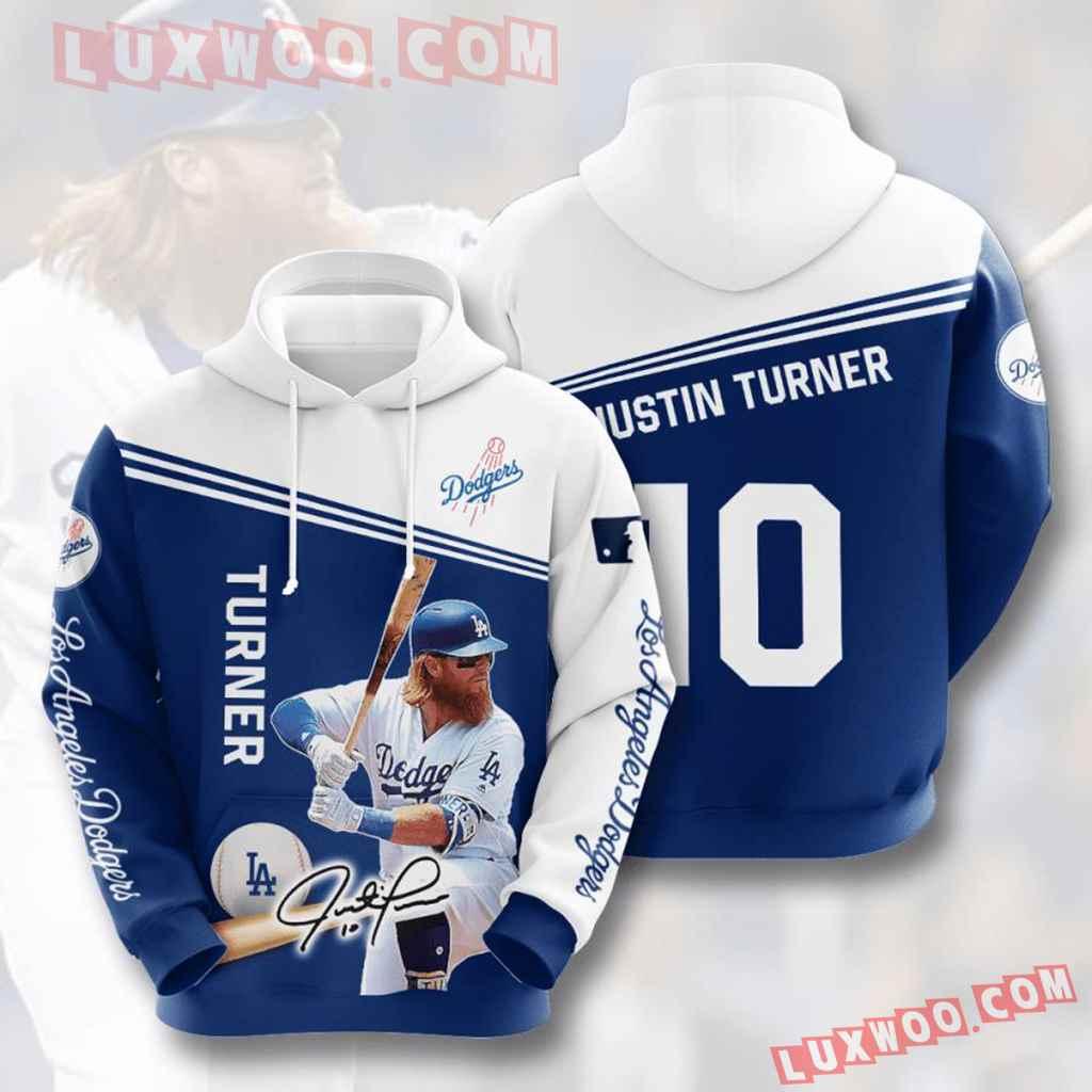 Mlb Los Angeles Dodgers 3d Hoodies Printed Zip Hoodies Sweatshirt Jacket V8