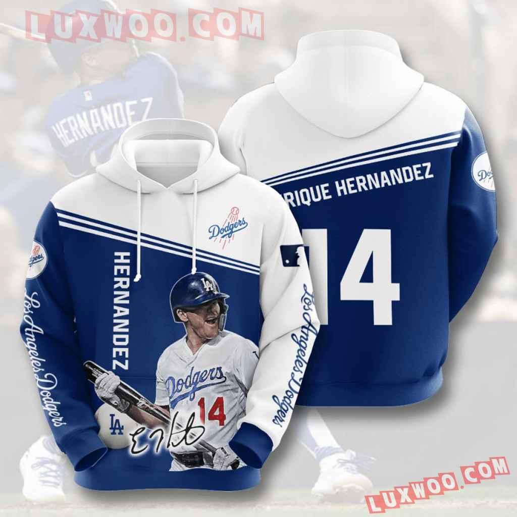 Mlb Los Angeles Dodgers 3d Hoodies Printed Zip Hoodies Sweatshirt Jacket V9