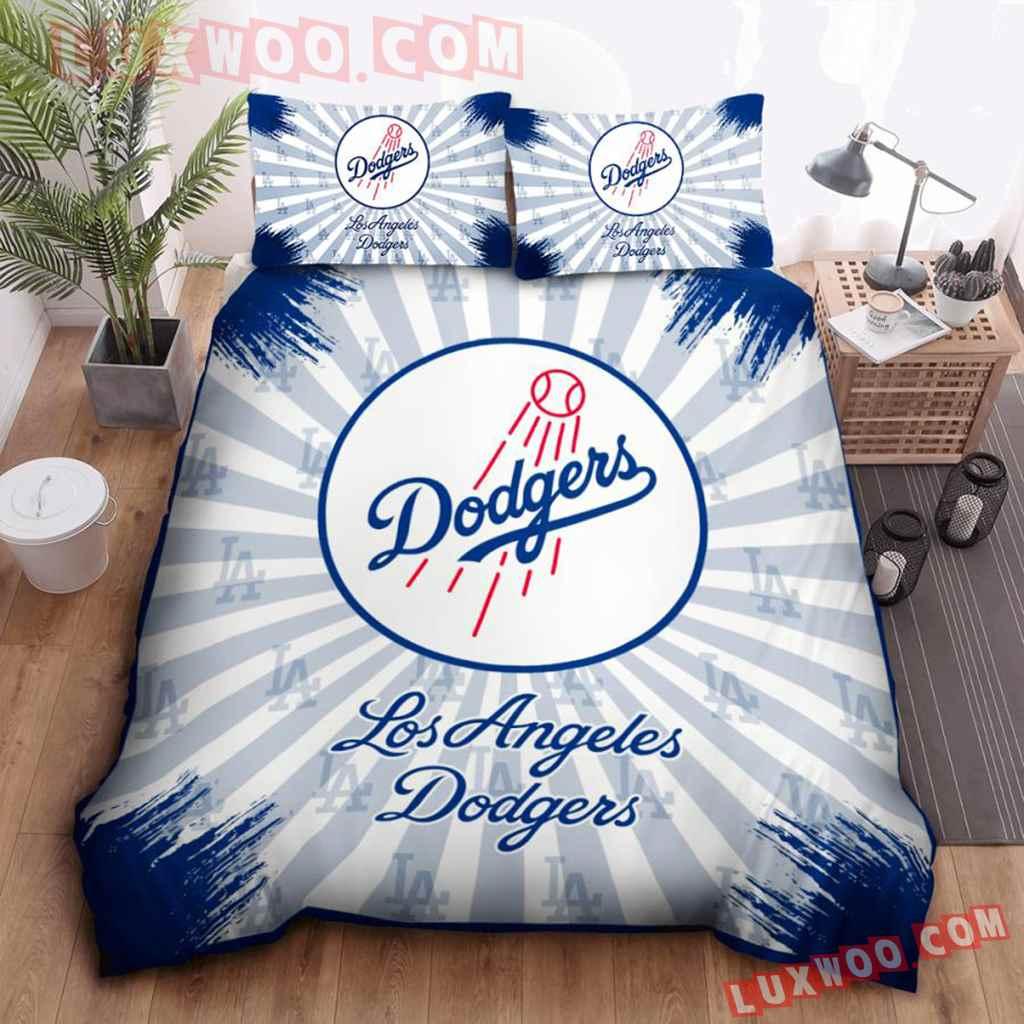 Mlb Los Angeles Dodgers 3d Quilt Bedding Set V1
