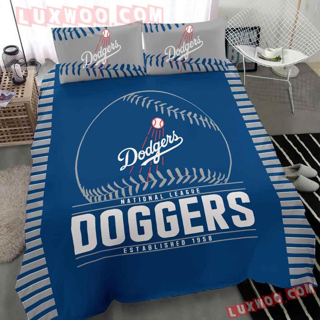 Mlb Los Angeles Dodgers 3d Quilt Bedding Set V2