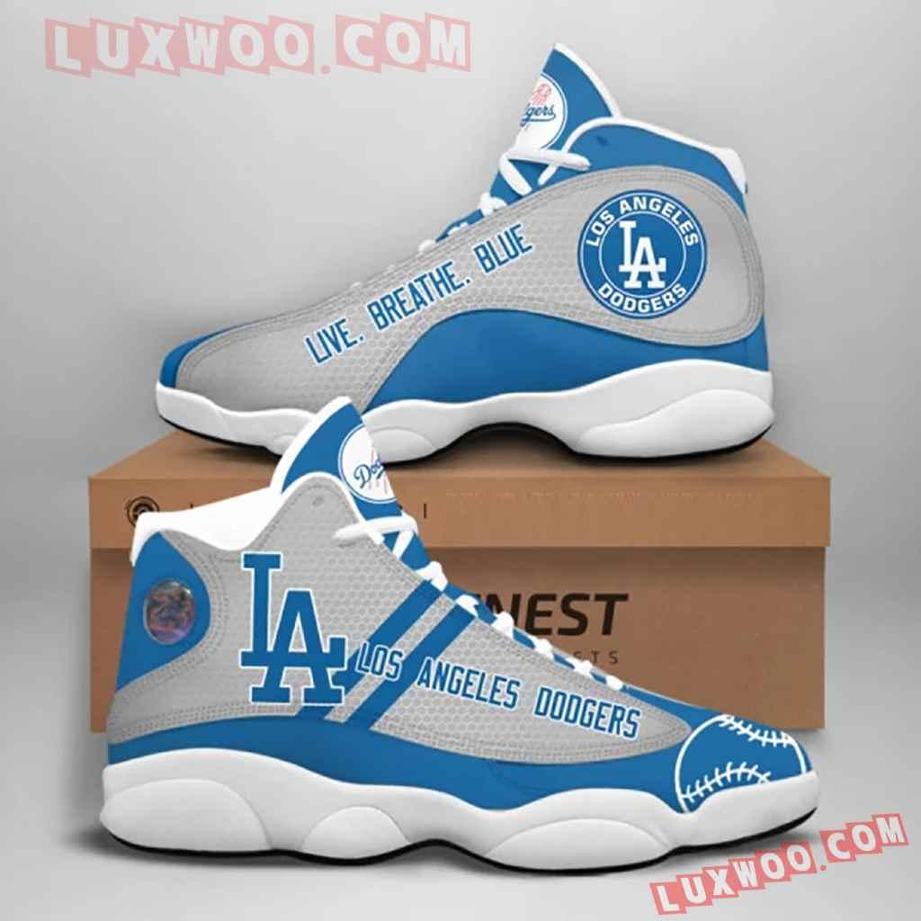 Mlb Los Angeles Dodgers Air Jordan 13 Custom Shoes Sneaker V1