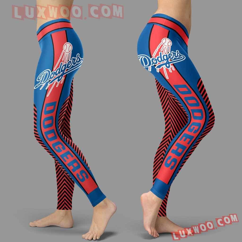 Mlb Los Angeles Dodgers Leggings 3d Custom Print Leggings Sport V1