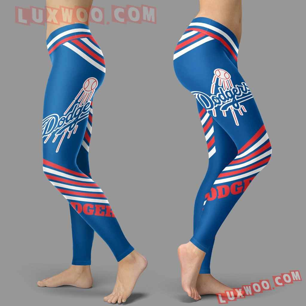 Mlb Los Angeles Dodgers Leggings 3d Custom Print Leggings Sport V2