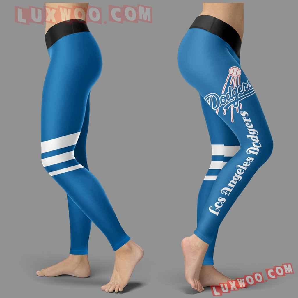 Mlb Los Angeles Dodgers Leggings 3d Custom Print Leggings Sport V3