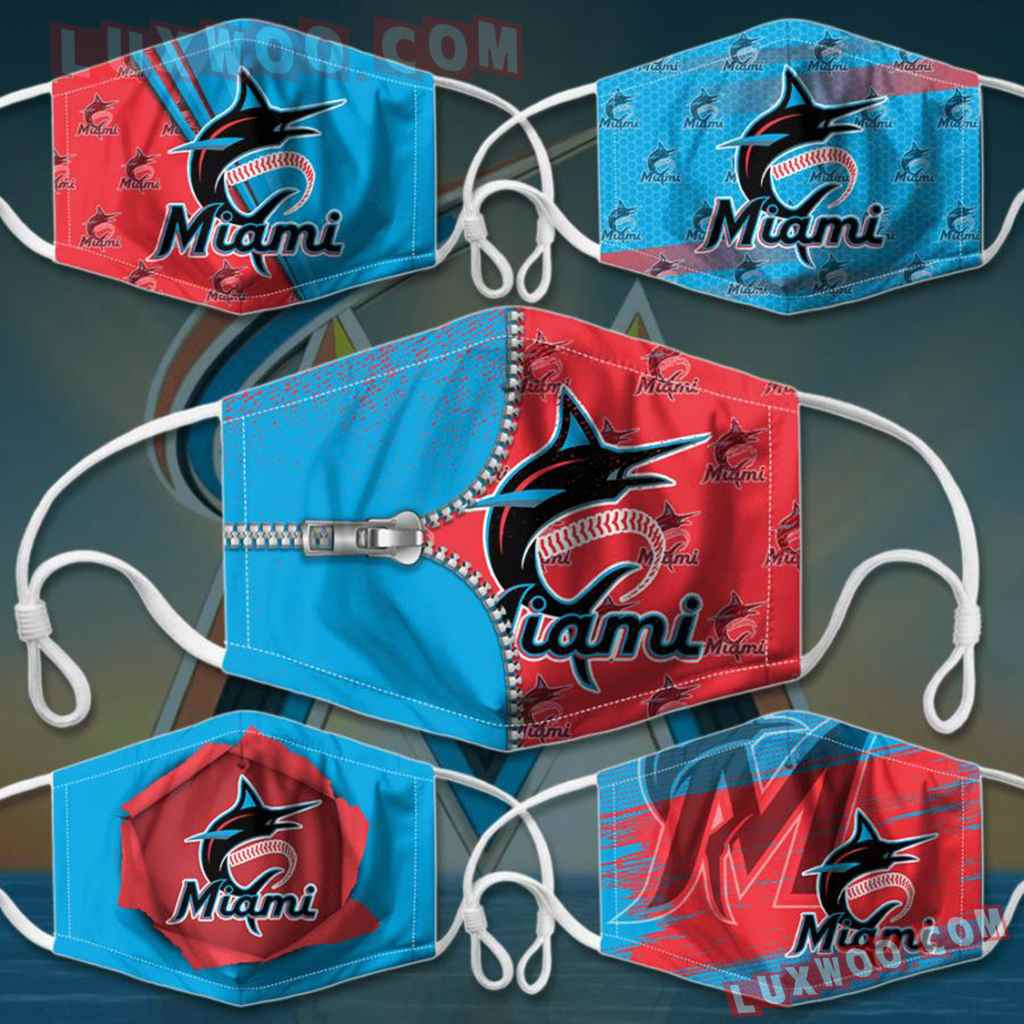 Mlb Miami Marlins 3d Face Mask Combo 5 V1