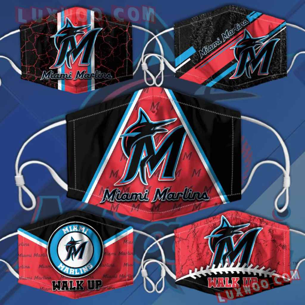 Mlb Miami Marlins 3d Face Mask Combo 5 V2
