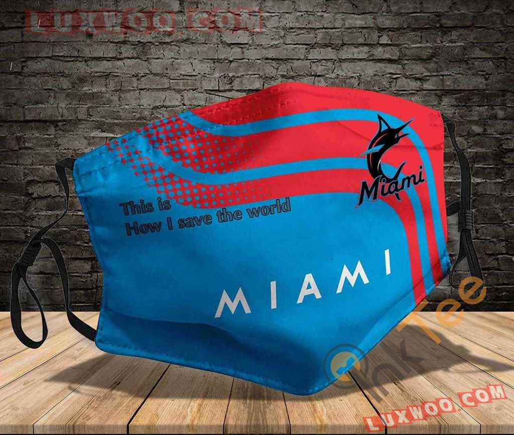 Mlb Miami Marlins 3d Face Mask V1