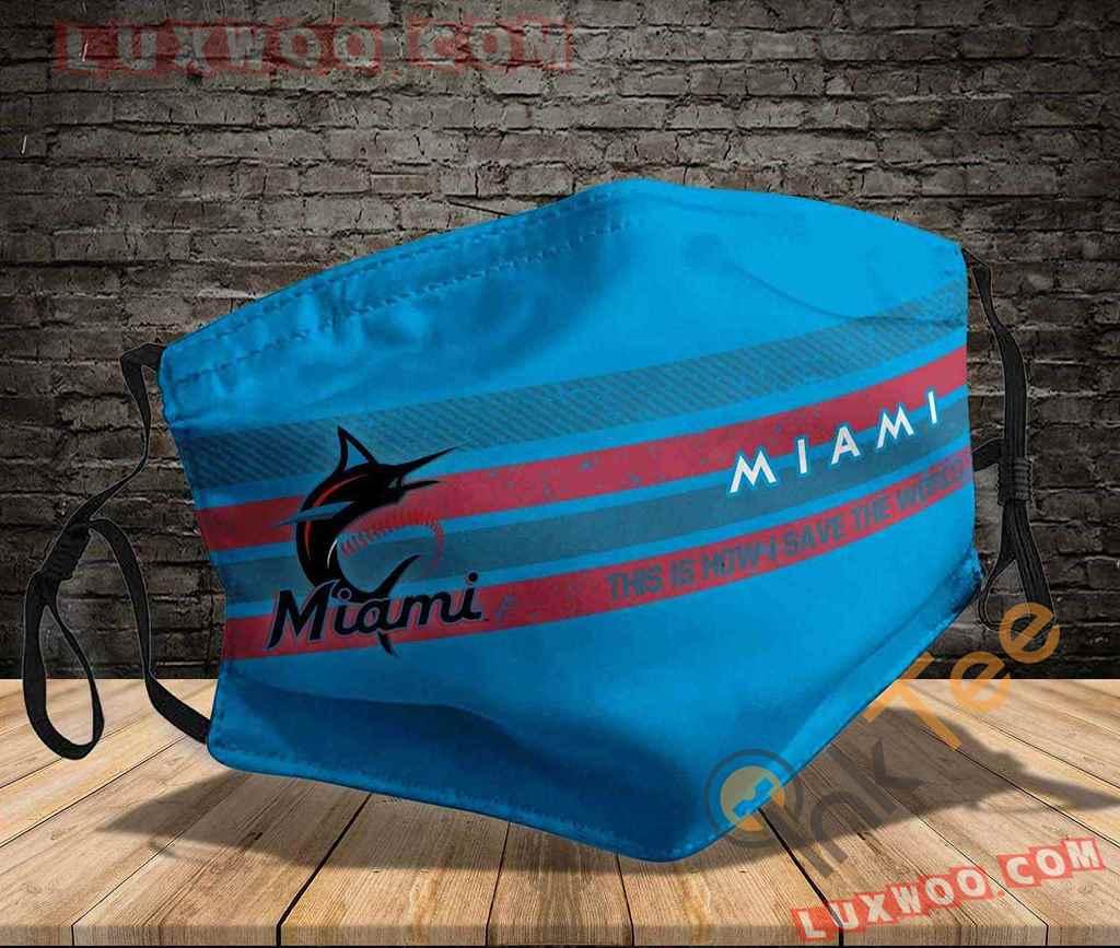 Mlb Miami Marlins 3d Face Mask V2