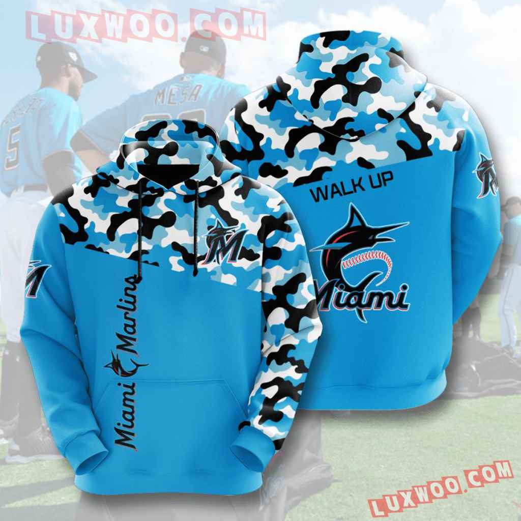 Mlb Miami Marlins 3d Hoodies Printed Zip Hoodies Sweatshirt Jacket V2