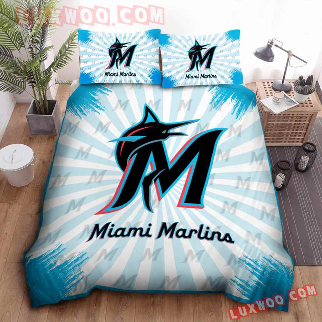 Mlb Miami Marlins 3d Quilt Bedding Set V2