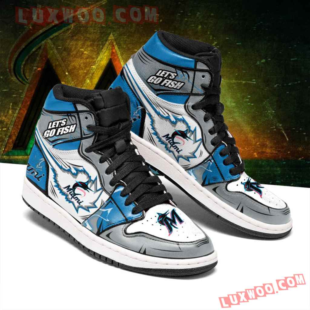 Mlb Miami Marlins Air Jordan 1 Custom Shoes Sneaker V1