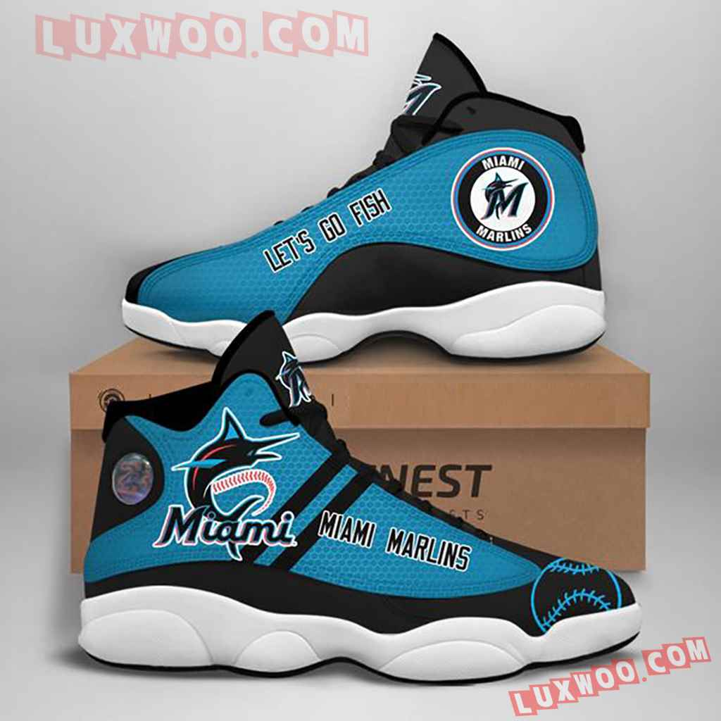 Mlb Miami Marlins Air Jordan 13 Custom Shoes Sneaker V1