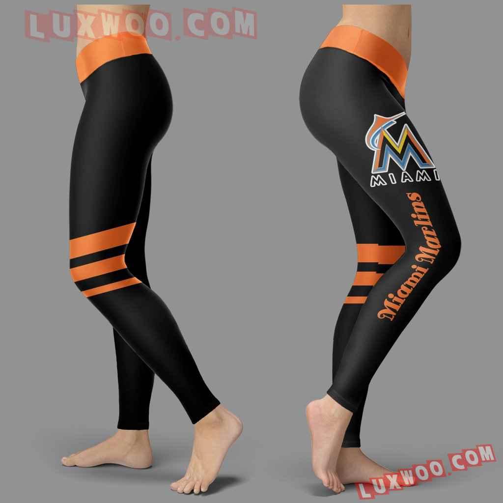 Mlb Miami Marlins Leggings 3d Custom Print Leggings Sport V3