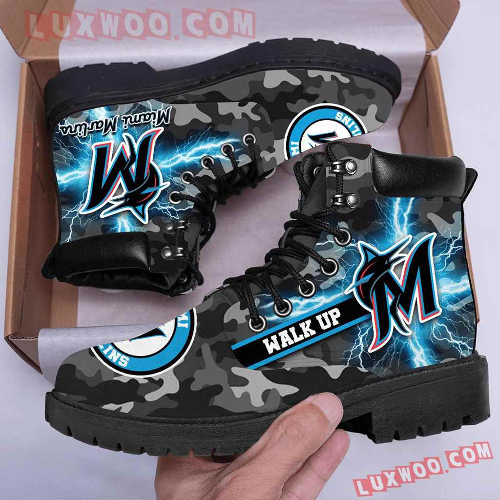 Mlb Miami Marlins Season Boots Shoes V1