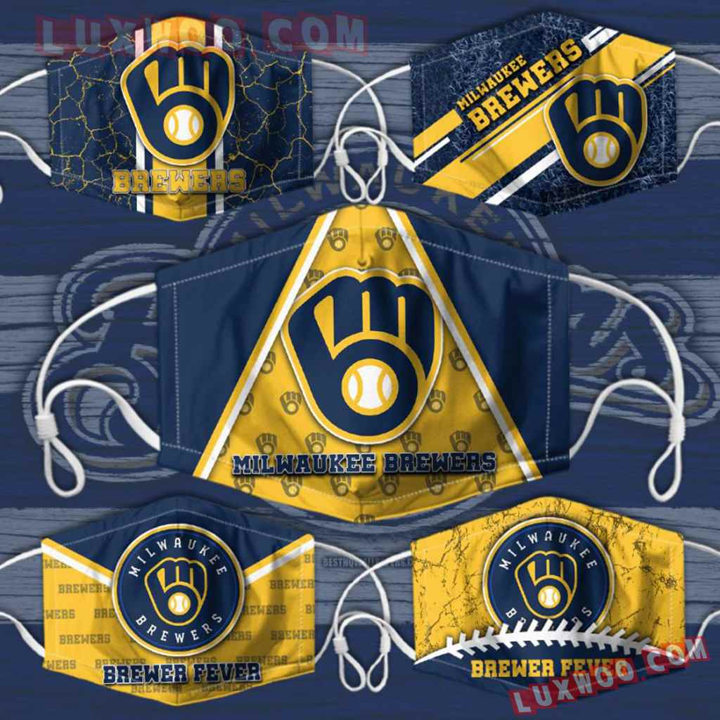 Mlb Milwaukee Brewers 3d Face Mask Combo 5 V2