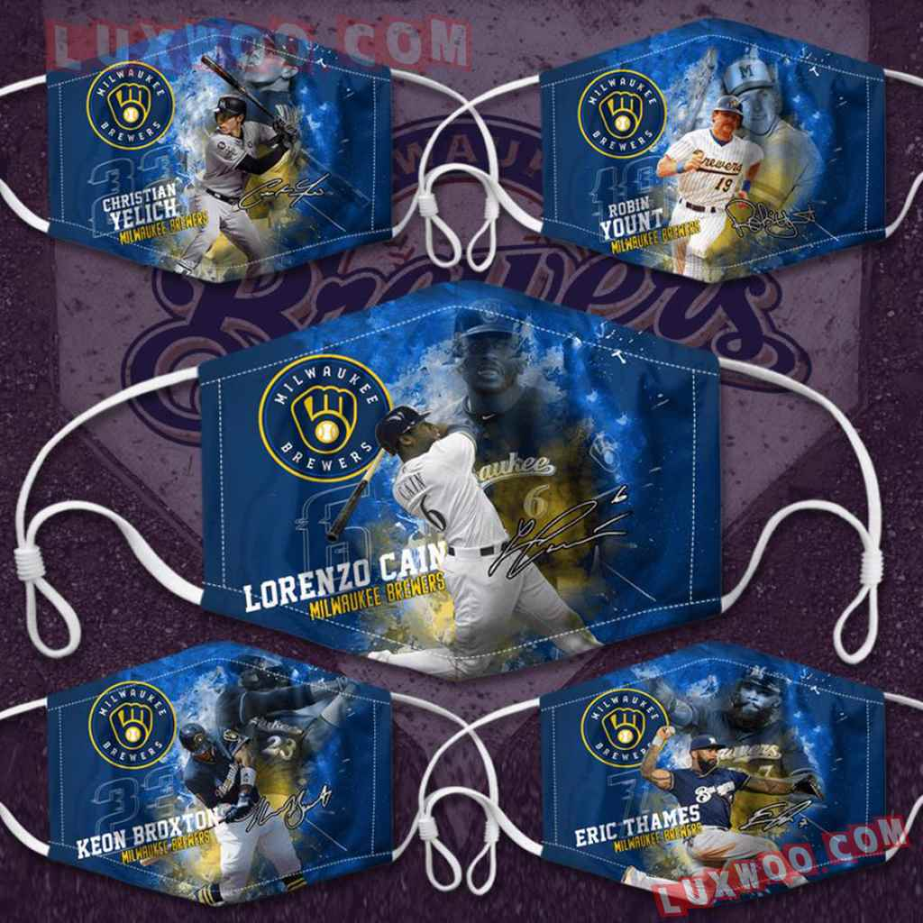 Mlb Milwaukee Brewers 3d Face Mask Combo 5 V3