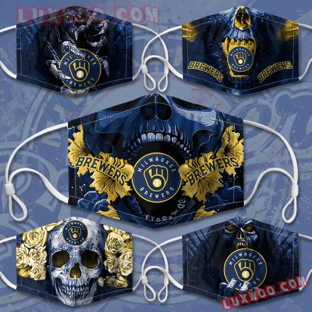 Mlb Milwaukee Brewers 3d Face Mask Combo 5 V4