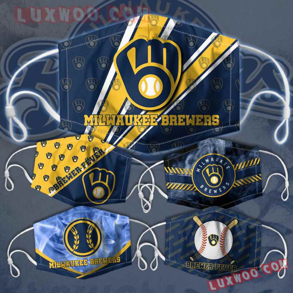 Mlb Milwaukee Brewers 3d Face Mask Combo 5 V5
