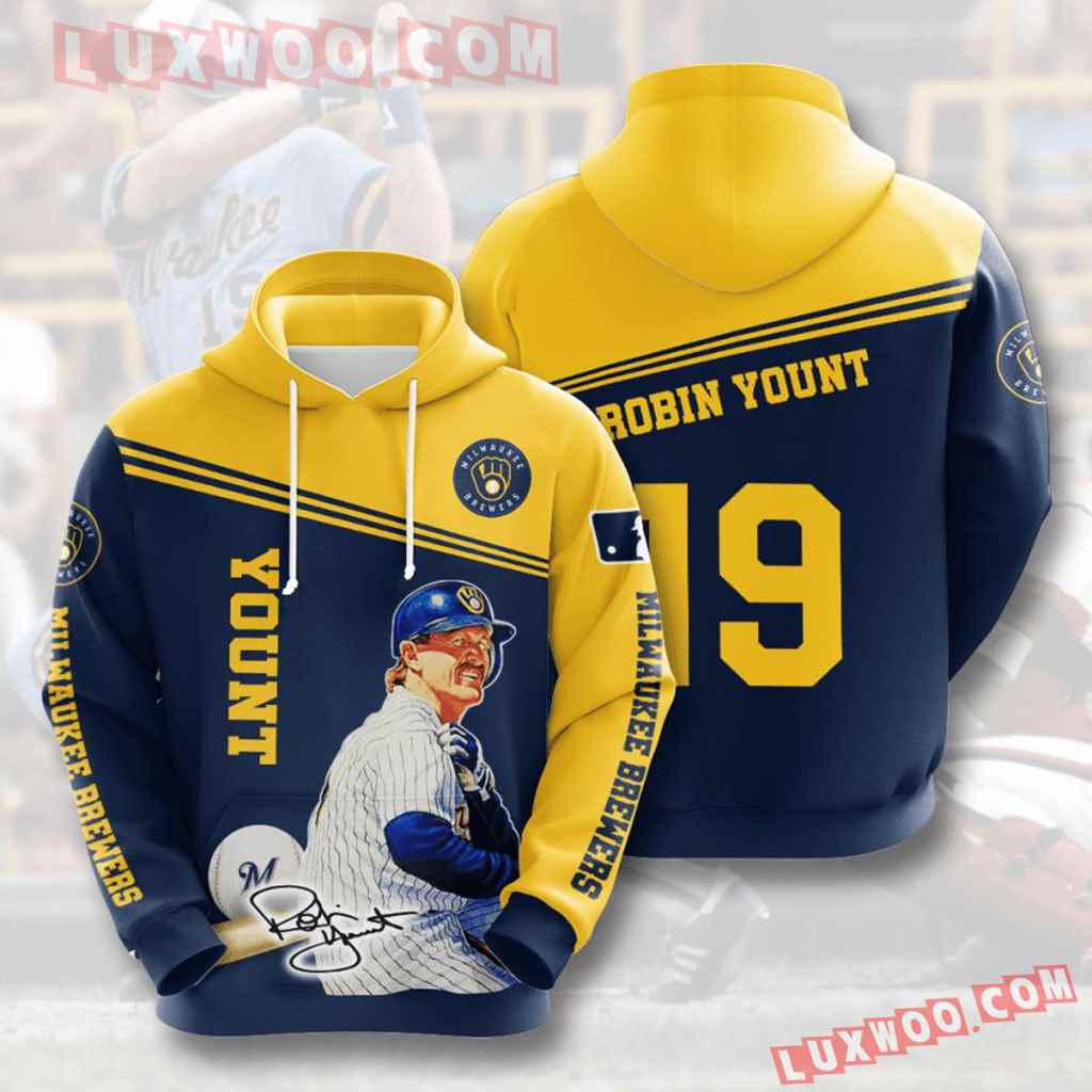 Mlb Milwaukee Brewers 3d Hoodies Printed Zip Hoodies Sweatshirt Jacket V12