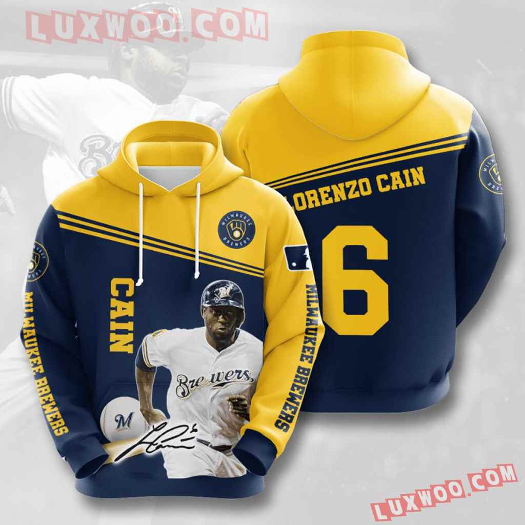 Mlb Milwaukee Brewers 3d Hoodies Printed Zip Hoodies Sweatshirt Jacket V13