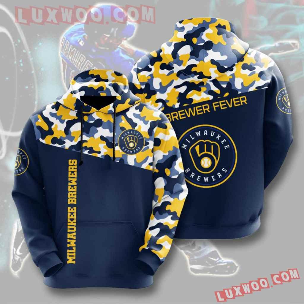Mlb Milwaukee Brewers 3d Hoodies Printed Zip Hoodies Sweatshirt Jacket V2