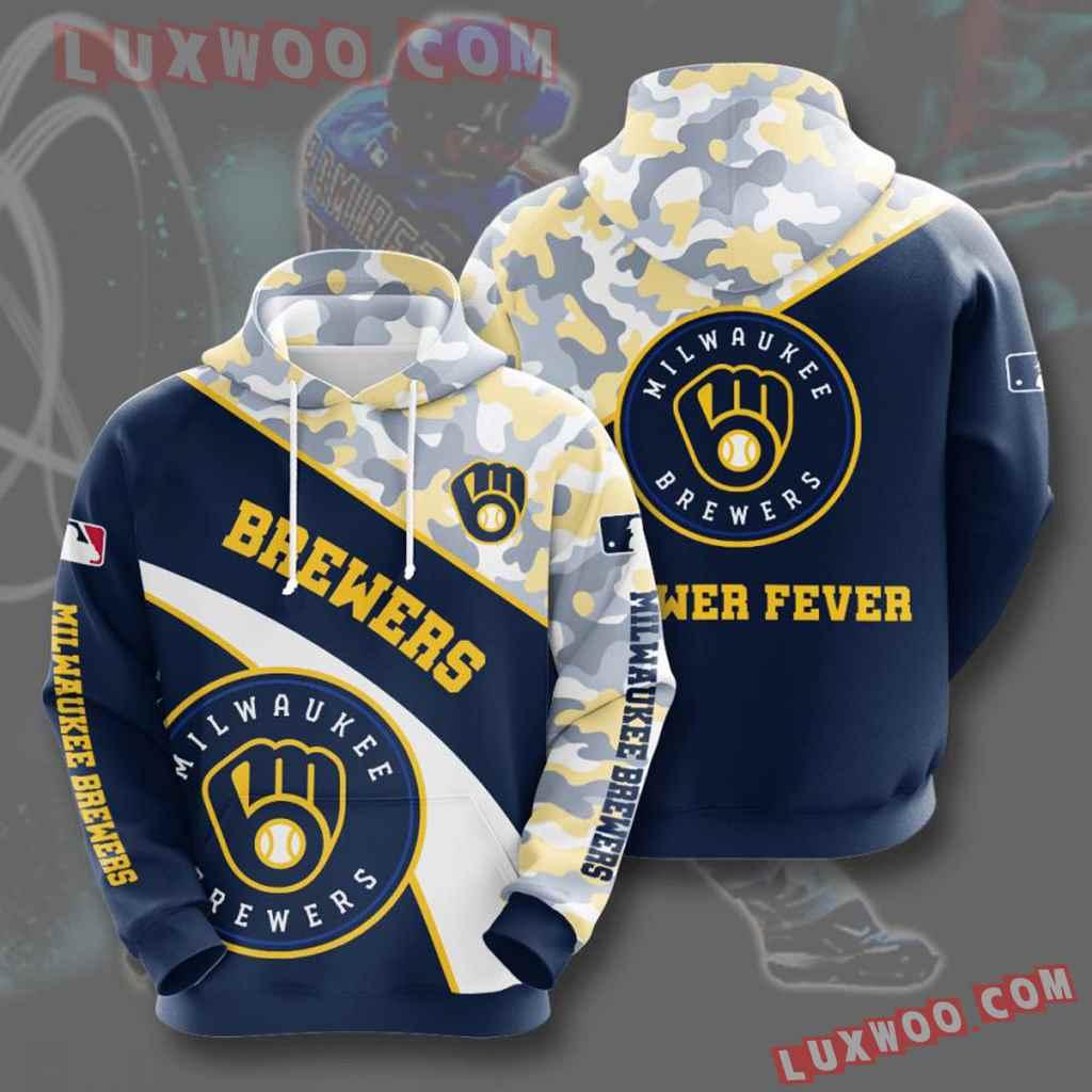 Mlb Milwaukee Brewers 3d Hoodies Printed Zip Hoodies Sweatshirt Jacket V8