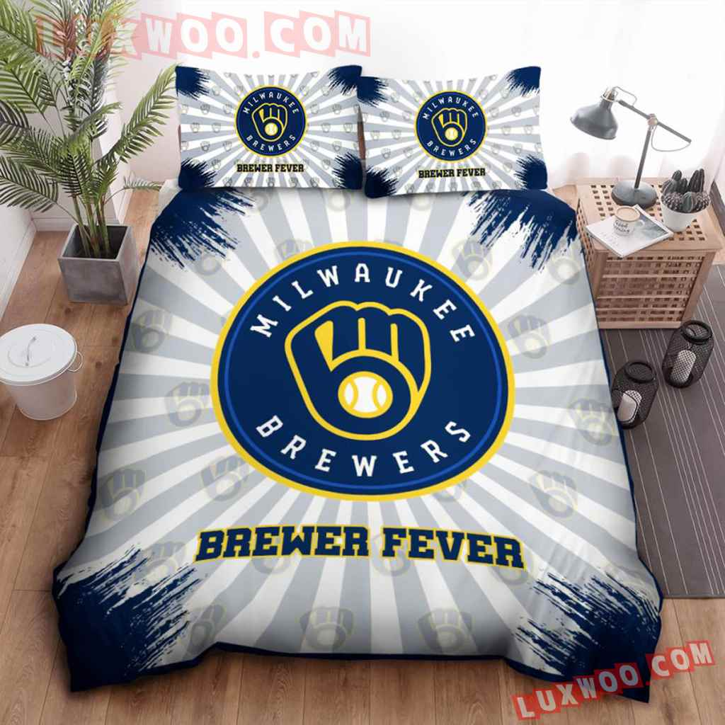 Mlb Milwaukee Brewers 3d Quilt Bedding Set V1