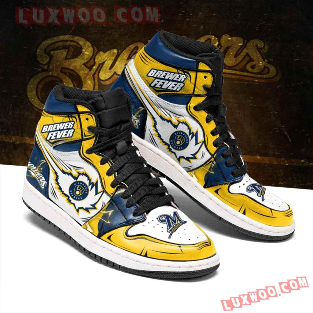 Mlb Milwaukee Brewers Air Jordan 1 Custom Shoes Sneaker V1