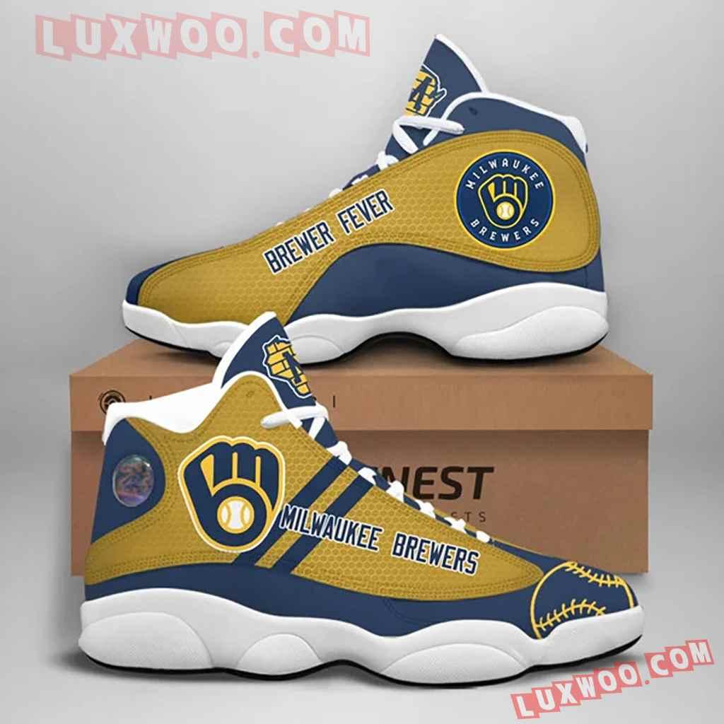 Mlb Milwaukee Brewers Air Jordan 13 Custom Shoes Sneaker V1