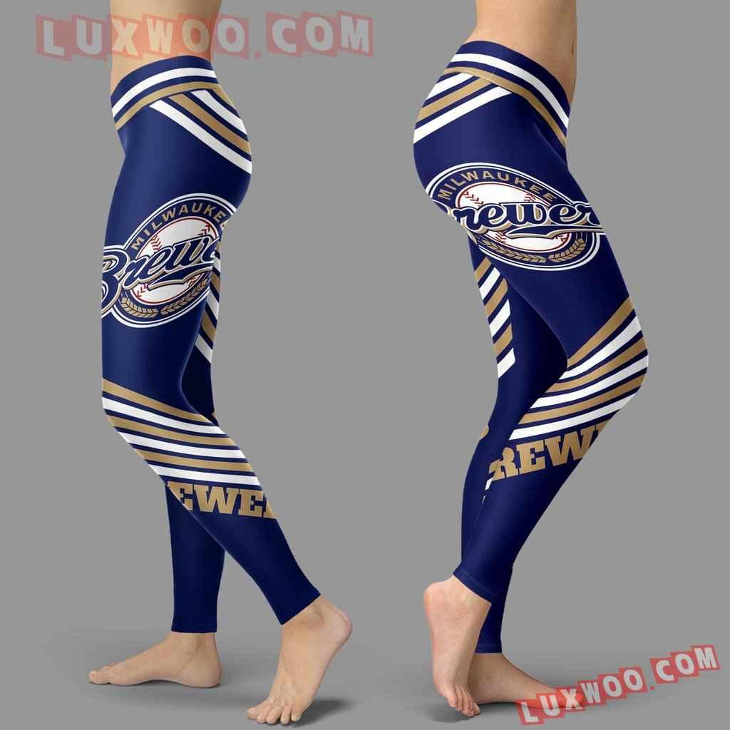 Mlb Milwaukee Brewers Leggings 3d Custom Print Leggings Sport V2