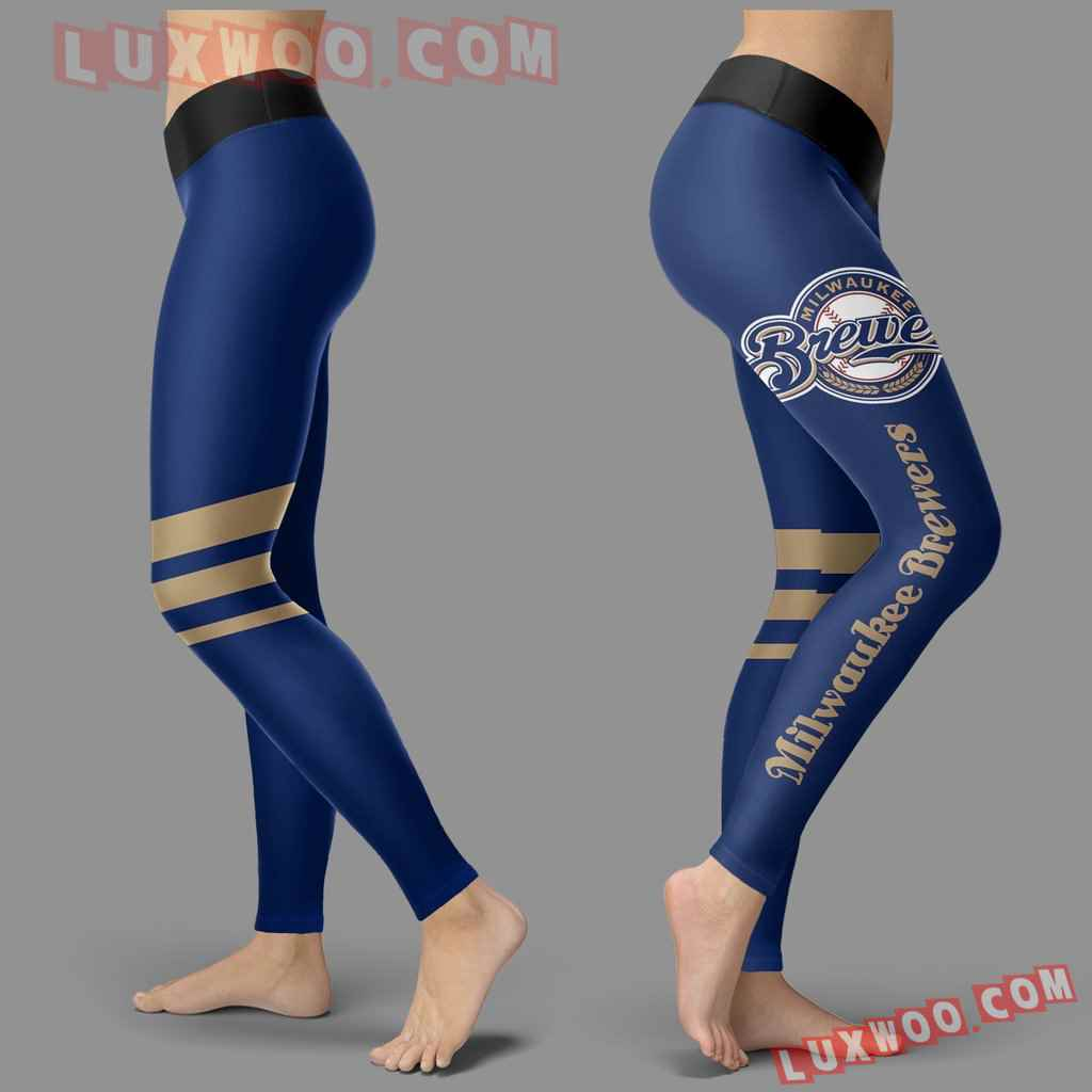 Mlb Milwaukee Brewers Leggings 3d Custom Print Leggings Sport V3