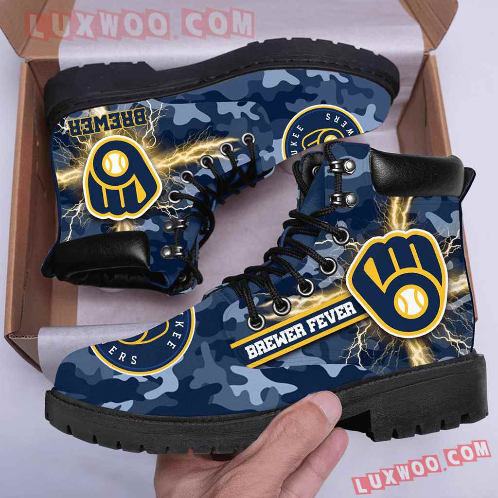 Mlb Milwaukee Brewers Season Boots Shoes V1